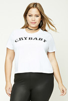 Forever 21 FOREVER 21+ Plus Size Crybaby Graphic Tee