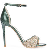 Monique Lhuillier glitter sandals - women - Leather/Watersnake Skin - 36