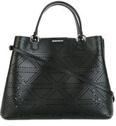 Emporio Armani perforated detail tote bag