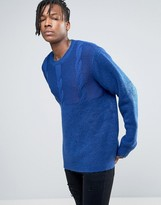 Cheap Monday Deprived Knit Half Cable Jumper