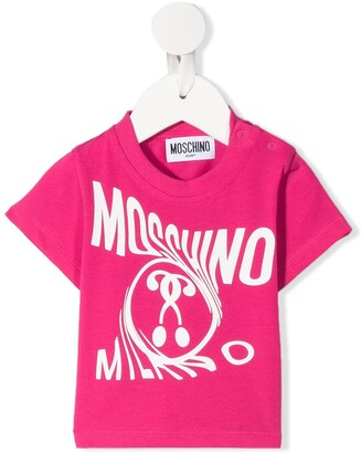 MOSCHINO BAMBINO twisted logo T-shirt
