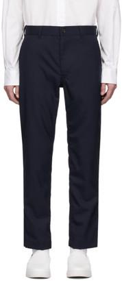 Comme des Garçons Homme Navy Tropical Wool Trousers
