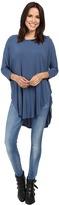 Michael Stars Jersey Lycra 3/4 Sleeve Poncho Tunic