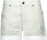 RtA Olivia distressed leather shorts