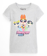 Jerry Leigh Gray Powerpuff Girls Logo Tee - Girls