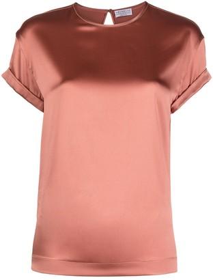 Brunello Cucinelli satin short-sleeve T-shirt