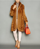 The Fur Vault Shawl-Collar Mink Fur Coat