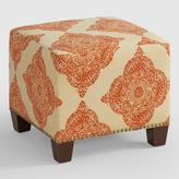 Cost Plus World Market Terracotta Mani McKenzie Upholstered Ottoman