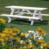 Adirondack Brenda Plastic Picnic Table Rosecliff Heights Color: Natural