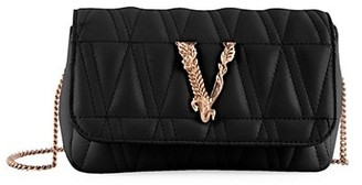 Versace Mini Virtus Quilted Leather Crossbody Bag