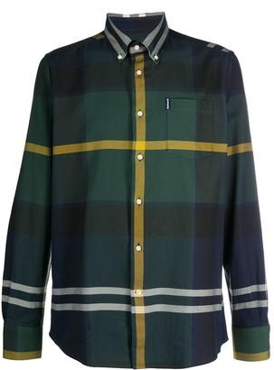 Barbour Plaid-Print Long-Sleeved Shirt