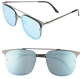 Quay Women's Private Eyes 55Mm Sunglasses - Gun/ Blue