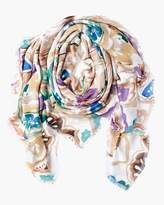 Chico's Watercolor Floral Scarf