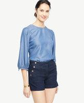 Ann Taylor Denim Sailor Shorts