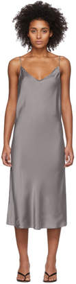 Skin Grey Silk Terra Dress