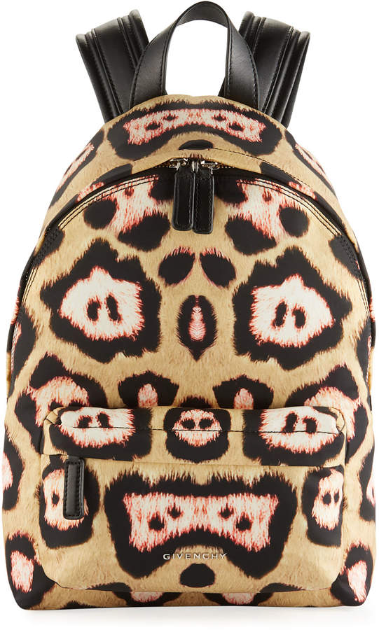 Givenchy Antigona Jaguar-Print Backpack