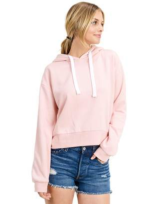 "Esstive Womens Ultra Soft Fleece Midweight Casual 21"" Inch Length Short Pullover Hoodie Sweatshirt Heather Gray X-Large"