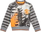 Roberto Cavalli Graffiti Printed Logo Sweatshirt, Grey, 6 Months