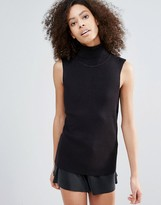 B.young Roll Neck Sleeveless Top