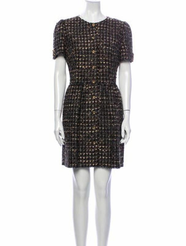 Dolce & Gabbana Tweed Pattern Mini Dress