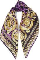 Versace Printed silk-twill scarf