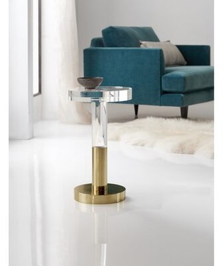 Hooker Furniture Melange Glass Top Pedestal End Table