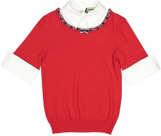 Mary Katrantzou Red Wool Top for Women