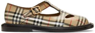 Burberry Beige Hannie T-Bar Shoes