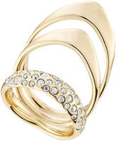 Alexis Bittar Triple Ring with Crystals