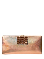 Roger Vivier Night Iridescent Leather Clutch