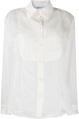 Blumarine Sheer Pleated-Detail Shirt