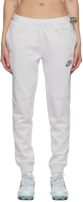 Nike White and Multicolor French Terry Jogger Lounge Pants