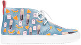 Del Toro Shoes patch detail lace-up sneakers - men - Calf Leather/rubber - 12