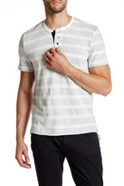 Kenneth Cole New York Short Sleeve Textured Henley Shirt