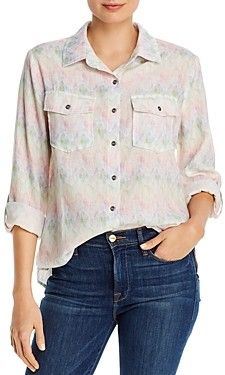 BILLY T Printed Button-Down Shirt