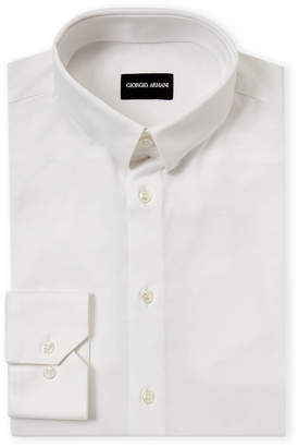 Giorgio Armani Point Collar Long Sleeve Dress Shirt