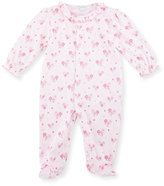 Kissy Kissy Tender Hearts Pima Footie Pajamas, Pink, Size 0-9 Months