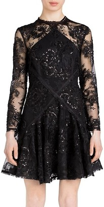 UNTTLD Dina Lace Fit-&-Flare Dress