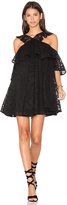 Cynthia Rowley Lace Cold Shoulder Mini Dress
