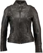 Gipsy DAISY Leather jacket dark brown