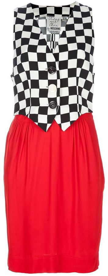 Moschino Vintage checked dress