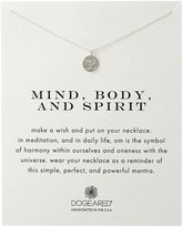 "Dogeared Reminder ""Mind, Body, and Spirit"" Sterling Om Pendant Necklace"