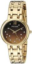 Pulsar Women's Quartz Stainless Steel Casual Watch, Color:Gold-Toned (Model: PH8302)