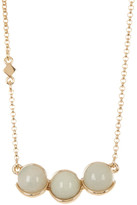 Cole Haan 12K Gold Plated 3 Stone Pendant Necklace