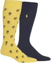 Polo Ralph Lauren Men's 2-Pk. Pineapple-Print Socks