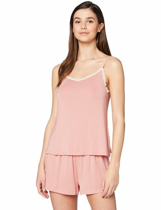 Iris & Lilly Amazon Brand Women's Modal Pyjama Set Pink (Rosette) M Label:M