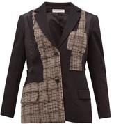 J.W.Anderson Patchwork Tailored Jacket - Womens - Black Multi