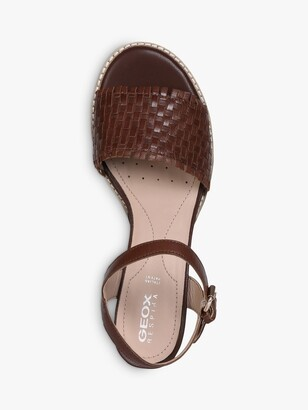 Geox Women's Sozy Leather Heeled Sandals, Brown
