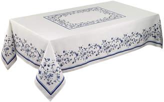 """Portmeirion 60"""" x 120"""" Blue Portofino Tablecloth"""