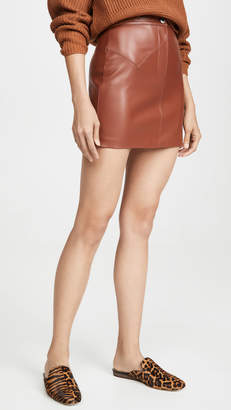 BB Dakota Keep Livin Vegan Leather Skirt